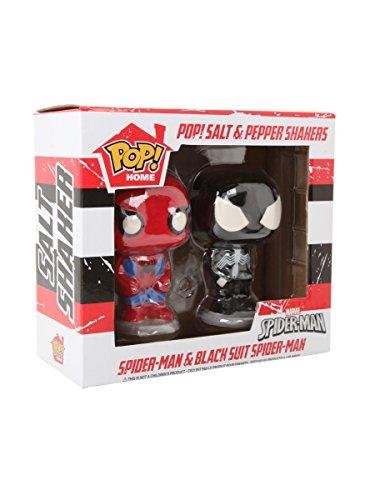 Funko Marvel Spider-Man & Black Suit Spider-Man Pop! Salt & Pepper Shakers