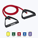 SPRI Xertube Resistance Bands Exercise Cords with Handles Attached (All Exercise Bands Sold Separately) - Door Attachment Anchor Option Available