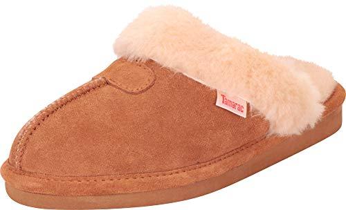 Tamarac by Slippers International Women's Genuine Lambswool Clog Slipper (9 N US, Chestnut)