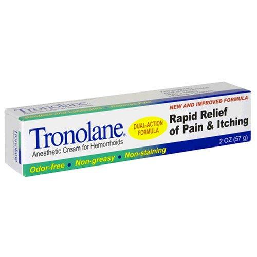 Tronolane crème anesthésiante pour les hémorroïdes, Dual-Action formule, deux onces (Pack de 3)