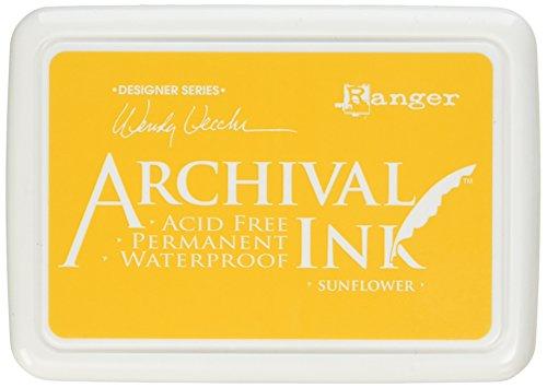 (Ranger AID49005 Wendy Vecchi Designer Series Archival Ink Pad, Sunflower)
