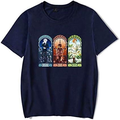 JFLY Camiseta Yakusoku No Neverland para Hombre The Promised Neverland Emma Norman Ray Camisetas Casuales Hechas De Algodón Puro Harajuku Camiseta De Manga Corta
