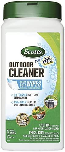 Scotts 51601 Outdoor Cleaner Plus OxiClean Heavy Duty Wipes