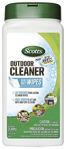 Scotts Outdoor Cleaner Plus OxiClean Heavy Duty Wipes