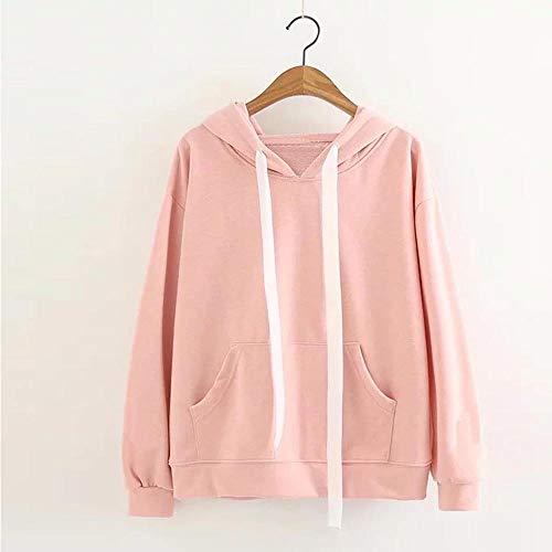 Hoodie Pink Casual Cute Ear Women Pullover Sleeve Rabbit Long Blouse Tops Sweatshirt PYFOw