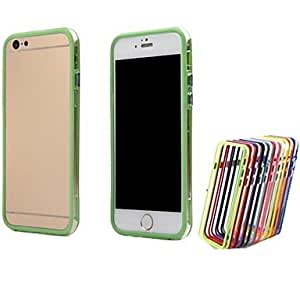 LCJ Dual Color TPU Bumper Frame Covers for iPhone 6 Plus Bumper Cases 5.5 inch (Assorted Colors) , Green