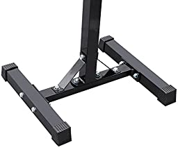 Yaheetech Adjustable Rack Standard Solid Steel Barbell Squat Bench Press Workout Stand