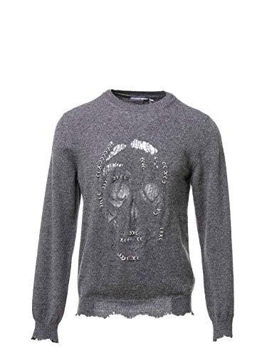 (Alexander McQueen Men's 477001Q1wer1134 Grey Wool Sweatshirt )