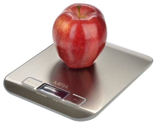 Kitchen Scale, Stainless Steel, with bright display (Digital Food Scale Reviews)