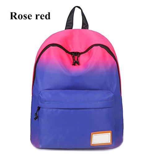 Hanno Della Prova Acqua Le Scuola Zaini Borse Colore Sacchetto Di Stampati Caldo Spalla Gli Rosa Che Per Kaoling Sfumatura Adolescenti Donne pxwUTx4