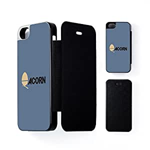 Acorn Computers Black Flip Case Snap-On Protective Hard Cover for Apple? iPhone 5 / 5s by Chargrilled + FREE Crystal Clear Screen Protector