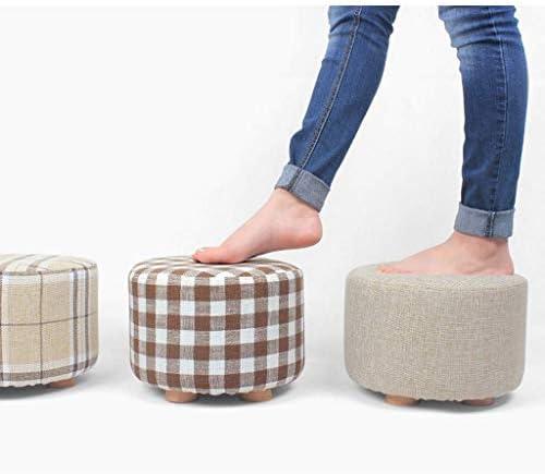 YUMUO Tabouret Table Basse Banc en Bois Massif Chaussures Chaussures Banc Mode Creative Carré Tissu Canapé Lavage À La Maison (Couleur: B)