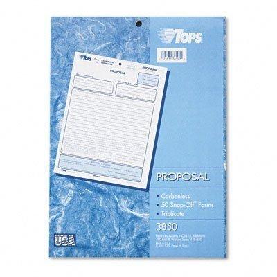 TOP3850 - Proposal Form - Carbonless Triplicate Proposal Form