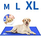 Shinyee 2019 Dog Cooling Mat Cool Non-toxic Gel Cooling Pad for People Dogs Cat and Pets, Puppy Self Cooling Cushions Bed Sofa in Summer, Ideal for Home Travel Cars Laptop Mattress Floor(90x50cm(36x20 in))