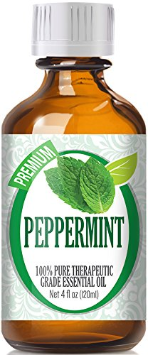 Peppermint Essential Oil - 100% Pure Therapeutic Grade Peppermint Oil - 120ml by Healing Solutions