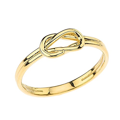 Modern 10k Yellow Gold Hercules Love Knot Promise Ring (Size 8.5) (Ring Knot Claddagh Gold)