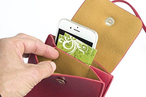 Red Crossbody Smartphone Purse pocket Multi IpxpqwOUR