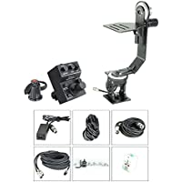 Proaim Professional Motorized Jr. Pan Tilt Head with 12V Joystick Control For DSLR Video Cameras Camcorders up to 6kg/13.2lb For Jib Crane Tripod + Carrying Bag (PT-JR)
