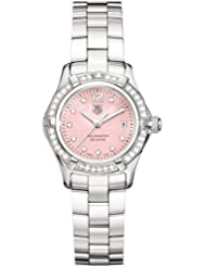 TAG Heuer Womens WAF141B.BA0813 Aquaracer Diamond Accented Watch