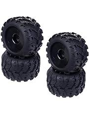 Sharplace 4pcs Neumáticos de Ruedas de Goma para Redcat HSP RC Truggy Truck 1/8
