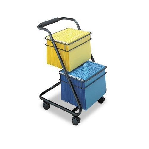 Safco Products 5223BL Jazz Two-Tier File Cart, Letter Size, Black by Safco