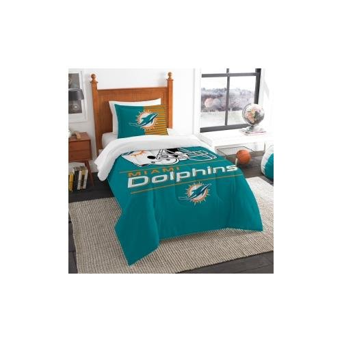 The Northwest Co mpany NFL Miami Dolphins Draft Twin 2-piece Comforter Set