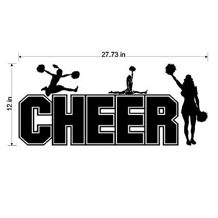 Amazon.com: Cheer Wall Quote Words Sayings Cheerleading ...