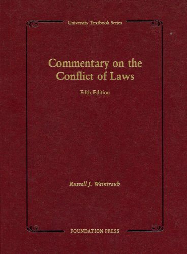 Commentary on the Conflict of Laws (University Textbook)