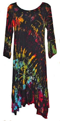 Used, Sacred Threads A-line Long-Sleeve Tie-dye Dress - One for sale  Delivered anywhere in USA