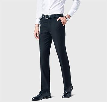 AXAY Pantalones de Traje Casual Negro,Pantalones de Traje de ...
