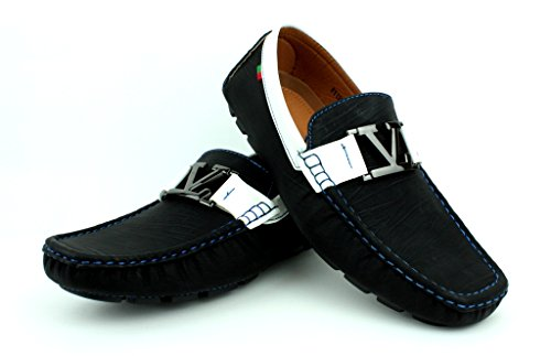 Driving Fashion Designer Infilare Stile Uomo Moccassini Mocassini Da Italiana Bianco GB nero Scarpe Black Casual tq8xE