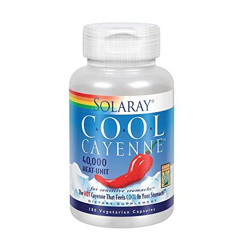Solaray Cool Cool Cayenne 40,000 HU | Healthy Digestion, Circulation, Metabolism & Cardiovascular Support | 180 VegCaps
