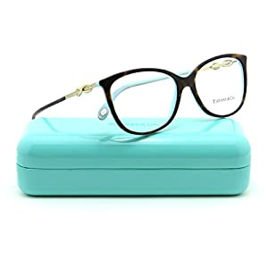 Tiffany & Co. TF 2143-B Women Oval Eyeglasses RX - able Frame (Havana Blue 8134, 53)