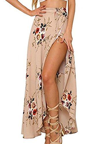 Andyicee Women's Sexy Floral Print High Waist Beach Maxi ...