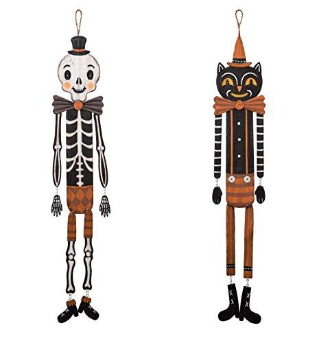 Transpac Halloween Skeleton & Black Cat 37