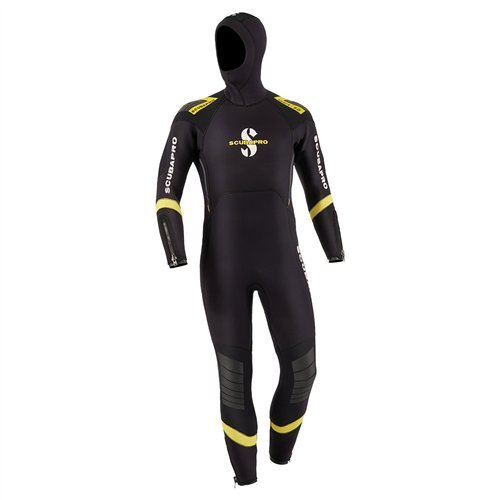 ScubaPro Men's Sport Semi-Dry Hooded 7mm Wetsuit (Medium) (Mens Semi Drysuit)