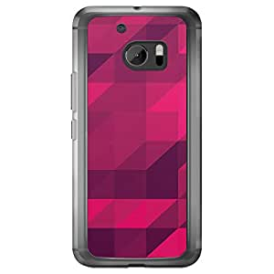 Loud Universe HTC M10 Geometrical Printing Files A Geo 32 Printed Transparent Edge Case - Purple
