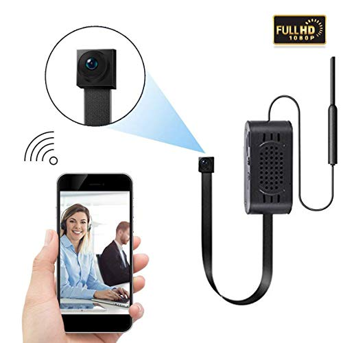 HD 1080P Spy Camera Mini Wireless Small Security Cam with Motion Detection Alarm Remote Home Nanny Cam for iPhone/Android Phone/Ipad/Pc ()