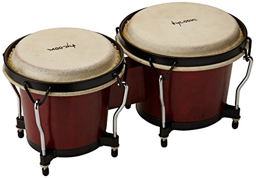 6 & 7 RITMO BONGOS - MAHOGANY FINISH by Tycoon