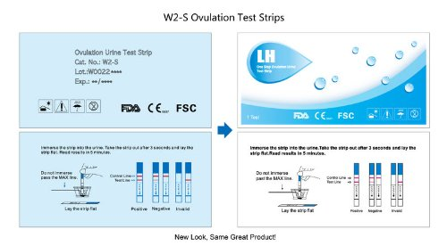 Wondfo 20 Early Detection (LH) Ovulation Strip Test Pack, 20-Count, Health Care Stuffs