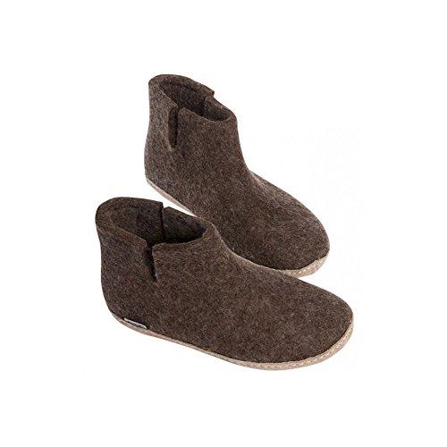 Glerups Unisex High Slippers Brown Braun