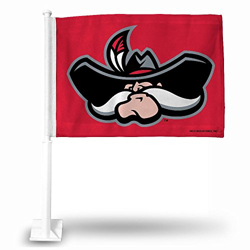 NCAA UNLV Rebels Car Flag, Red, with White Pole