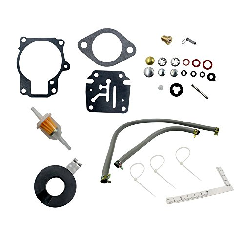 Sierra Carburetor - DEF Carburetor Rebuild Kit for Evinrude Johnson 398729 396701 392061 Mallory 9-37107 Sierra 18-7222 18 20 25 28 30 35 40 45 48 50 55 60 65 70 75 HP Outboard Motors (1 package)