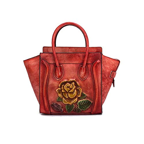 Style Main Red Rétro De Mode Dames Sac Sac Rose Fait Style AJLBT Main à Chinois Simple TA0tqW