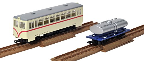 Tetsudou Collection - Narrow Gauge 80 Tomibetsu Simple Track Self-propelled Passenger Car Hamanasu-gou + Milk Tank Car Set