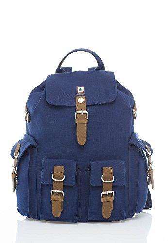 Rucksack HF Serie aus Hanf - organic cotton blau Vintage look Pure