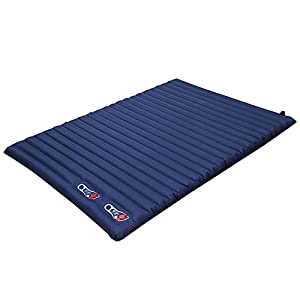 Forall-Ms Double Inflatable Sleeping Mat for Family, 10cm Thickened Comfortable Camping Mattress Push-Type Inflating Pad for Hiking Tent Beach 2 Person