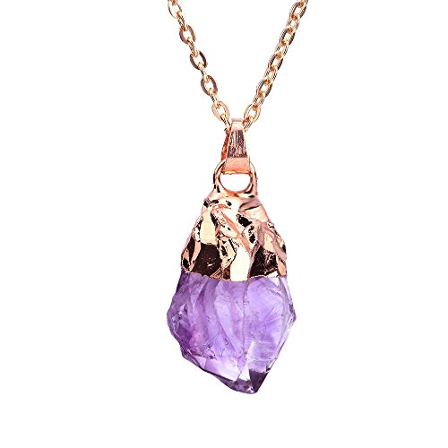 Irregular Handmade Amethyst Necklace birthstone
