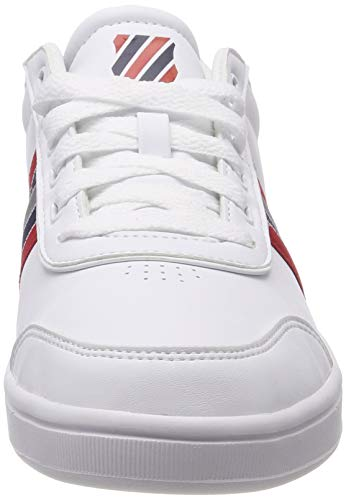 Red Bas swiss 149 Clarkson white peacoat Court K ribbon Chaussons S Blanc Homme AxqBqnOv