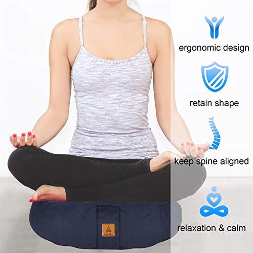 Amazon.com: FelizMax Zafu Cojín redondo de meditación ...